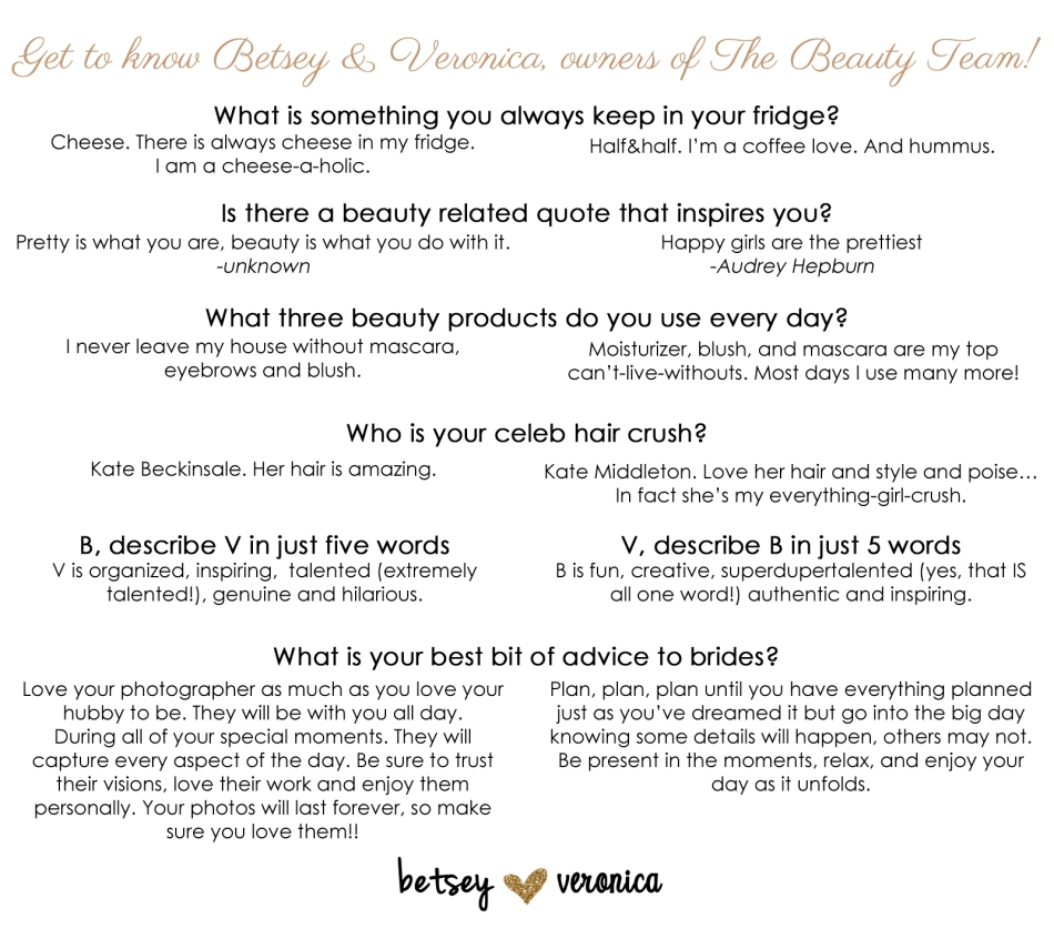 get to know the beauty team